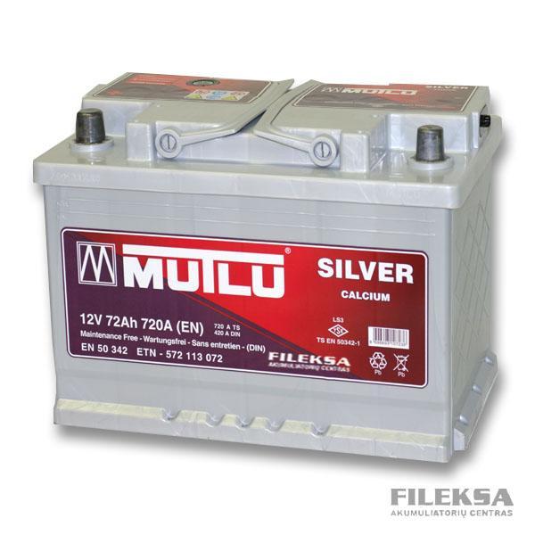 MUTLU 72 Ah Silver (+-)