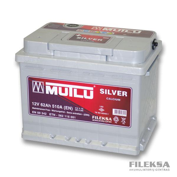 MUTLU 62 Ah Silver (+ -)