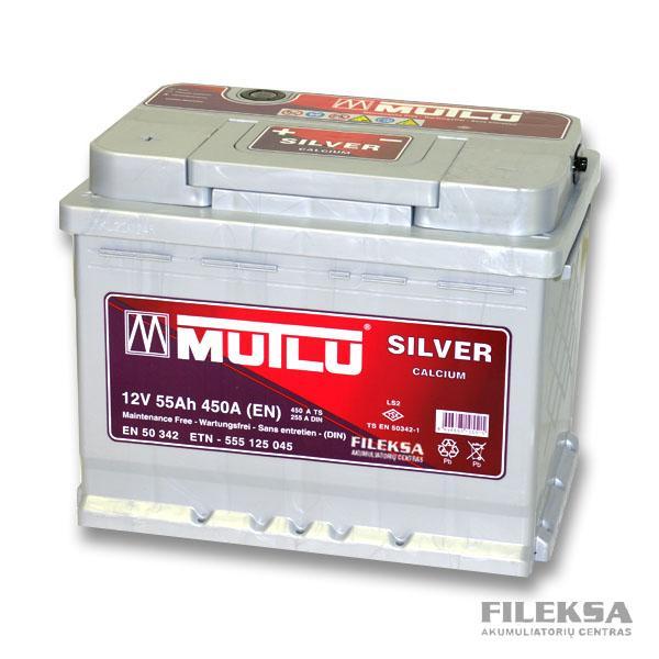 MUTLU 55 Ah Silver (+-)