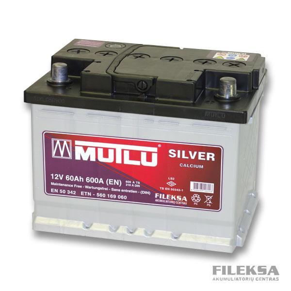 MUTLU 60 Ah Silver (žemas)